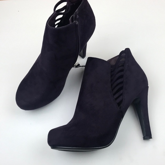 b6dc2e99a Lane Bryant Shoes | Purple Cut Out Booties | Poshmark